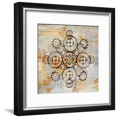 Saffron Mandala I Crop-Melissa Averinos-Framed Art Print