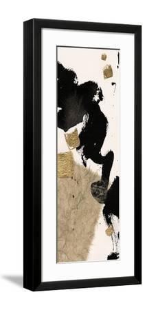 Gilded Collage I on White-Chris Paschke-Framed Art Print