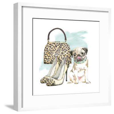 Glamour Pups IV-Beth Grove-Framed Art Print