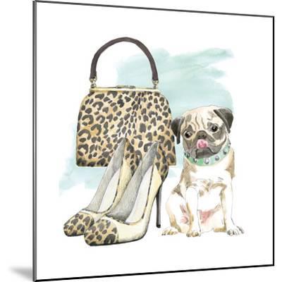 Glamour Pups IV-Beth Grove-Mounted Art Print