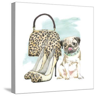 Glamour Pups IV-Beth Grove-Stretched Canvas Print