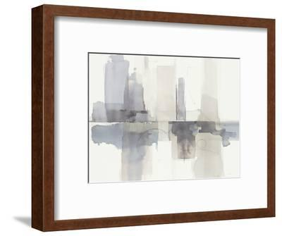Improvisation II Gray Crop-Mike Schick-Framed Art Print