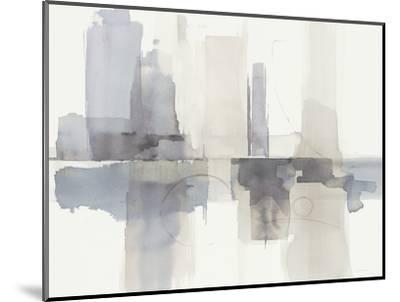 Improvisation II Gray Crop-Mike Schick-Mounted Art Print