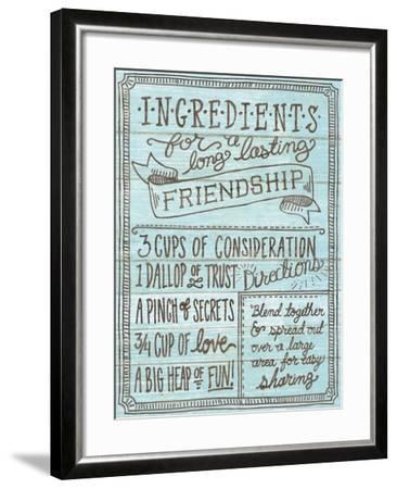 Ingredients for Life IV Blue-Mary Urban-Framed Art Print