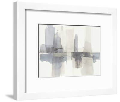 Improvisation II Gray Crop-Mike Schick-Framed Premium Giclee Print