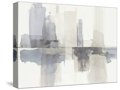 Improvisation II Gray Crop-Mike Schick-Stretched Canvas Print