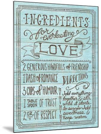Ingredients for Life III Blue-Mary Urban-Mounted Art Print
