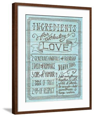 Ingredients for Life III Blue-Mary Urban-Framed Art Print