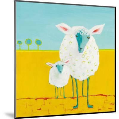 Mama and Baby Sheep-Phyllis Adams-Mounted Art Print