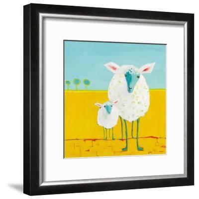 Mama and Baby Sheep-Phyllis Adams-Framed Art Print