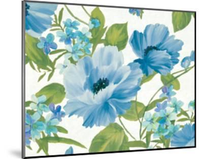 Summer Poppies Blue Crop-Wild Apple Portfolio-Mounted Art Print
