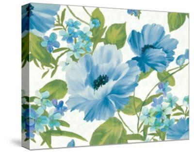 Summer Poppies Blue Crop-Wild Apple Portfolio-Stretched Canvas Print
