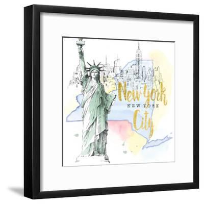 US Cities IV-Beth Grove-Framed Art Print