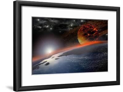 Doom Morning on Earth-3000ad-Framed Art Print
