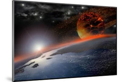 Doom Morning on Earth-3000ad-Mounted Art Print