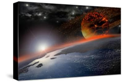 Doom Morning on Earth-3000ad-Stretched Canvas Print