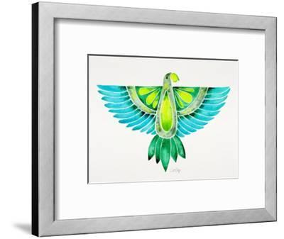 Blue and Green Parrot-Cat Coquillette-Framed Giclee Print