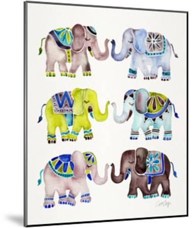 Cool Elephants-Cat Coquillette-Mounted Giclee Print