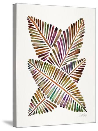 Vintage Banana Leaves-Cat Coquillette-Stretched Canvas Print