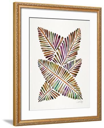 Vintage Banana Leaves-Cat Coquillette-Framed Giclee Print