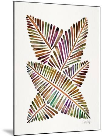 Vintage Banana Leaves-Cat Coquillette-Mounted Giclee Print