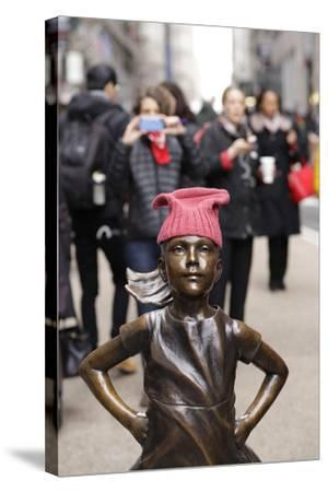 Fearless Girl Wall Street--Stretched Canvas Print