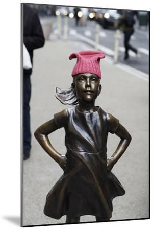 Fearless Girl Wall Street--Mounted Photographic Print