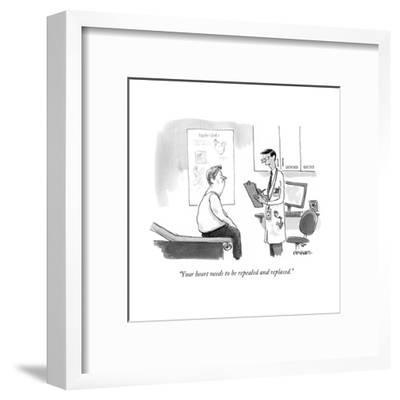 """Your heart needs to be repealed and replaced."" - Cartoon-Pat Byrnes-Framed Premium Giclee Print"
