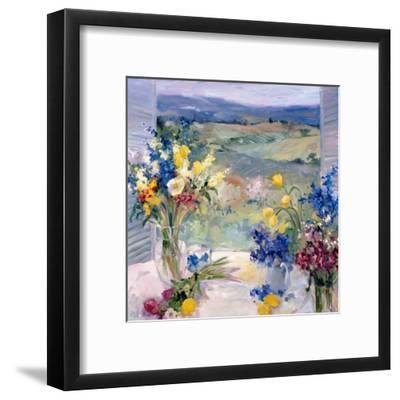 Tuscany Floral-Allayn Stevens-Framed Art Print