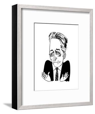 Jon Stewart - Cartoon-Tom Bachtell-Framed Premium Giclee Print