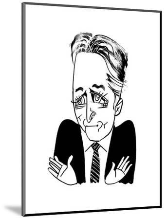 Jon Stewart - Cartoon-Tom Bachtell-Mounted Premium Giclee Print