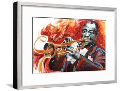 Louis Armstrong: What a Wonderful World-Shen-Framed Art Print