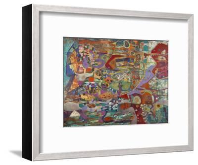 Creatures in Red and Green-Alise Loebelsohn-Framed Art Print