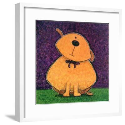 Yellow Dog-Kourosh-Framed Art Print