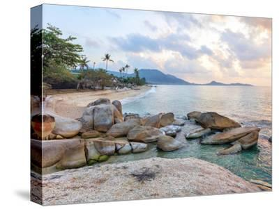 Asian Tropical Beach Paradise-Olena Serditova-Stretched Canvas Print