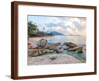 Asian Tropical Beach Paradise-Olena Serditova-Framed Photographic Print