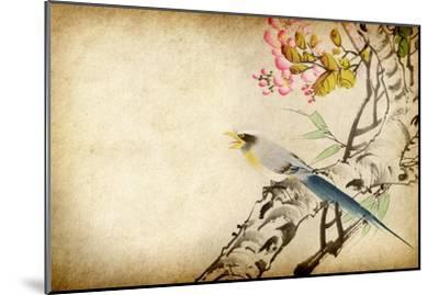 Art Grunge Vintage Texture-Wu Kailiang-Mounted Art Print