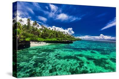 Beach with Coral Reef on South Side of Upolu, Samoa Islands-Martin Valigursky-Stretched Canvas Print