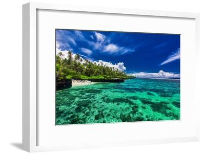 Beach with Coral Reef on South Side of Upolu, Samoa Islands-Martin Valigursky-Framed Photographic Print