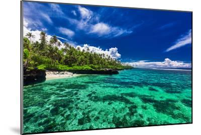 Beach with Coral Reef on South Side of Upolu, Samoa Islands-Martin Valigursky-Mounted Photographic Print