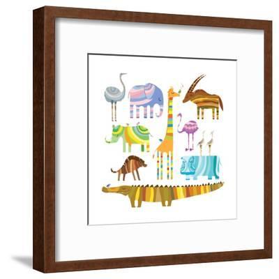 African Animals-Evgeniya Balala-Framed Art Print