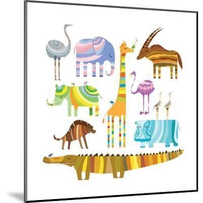 African Animals-Evgeniya Balala-Mounted Art Print