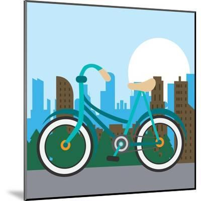 Bike City and Healthy Lifestyle Design- Jemastock-Mounted Art Print