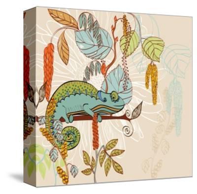 Chameleon-Tatsiana Pilipenka-Stretched Canvas Print