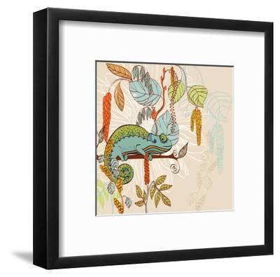 Chameleon-Tatsiana Pilipenka-Framed Art Print