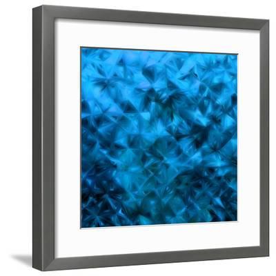 Blue Glitter-Petrov Vladimir-Framed Photographic Print