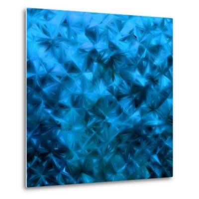 Blue Glitter-Petrov Vladimir-Metal Print