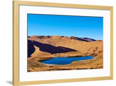 China, Inner Mongolia, Badain Jaran Desert, Gobi Desert-Tuul And Bruno Morandi-Framed Photographic Print