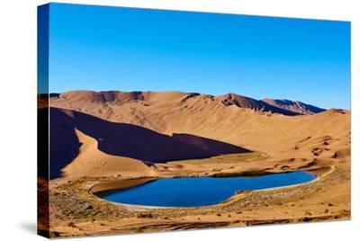 China, Inner Mongolia, Badain Jaran Desert, Gobi Desert-Tuul And Bruno Morandi-Stretched Canvas Print