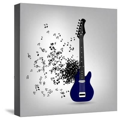Abstract Music Illustration for Your Design-Oleg Gapeenko-Stretched Canvas Print